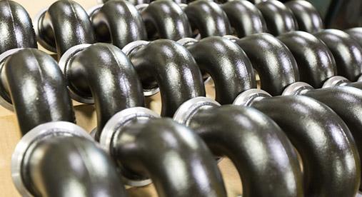 Gray iron pipe elbow